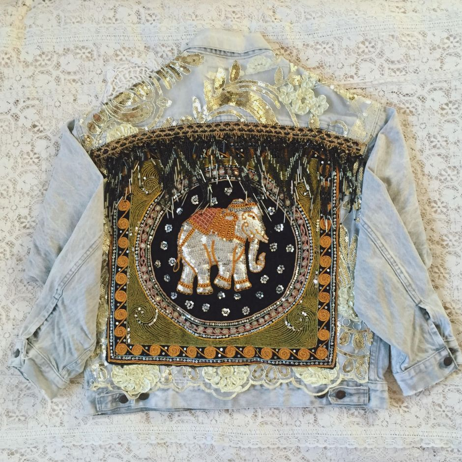 wild and free jewelry, wild and free blog, corina brown, embellished elephant jacket