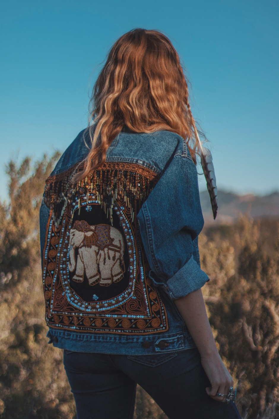 Embellished Elephant Jacket by Wild & Free Jewelry